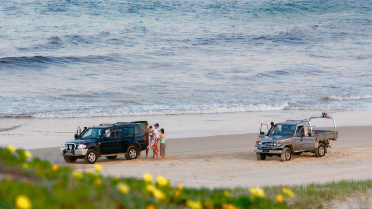 4WD on sand at Indian Head, Fraser Island