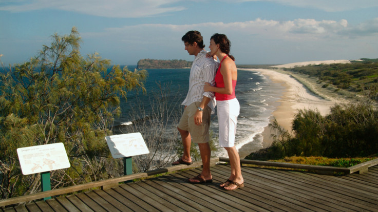 Boardwalk near Champagne Rock Pools, Fraser Island