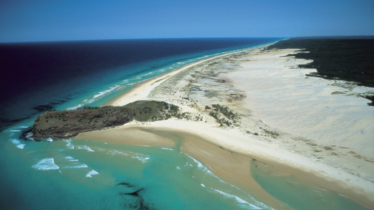 Aerial of Indian Head, Fraser Island