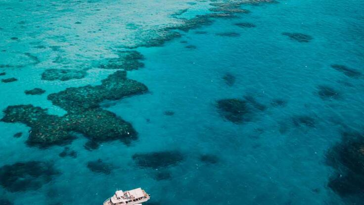 Dive Tours from Townsville - Aerial View of Boat