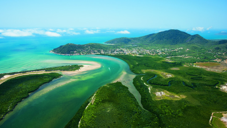 Aerial views over Cooktown