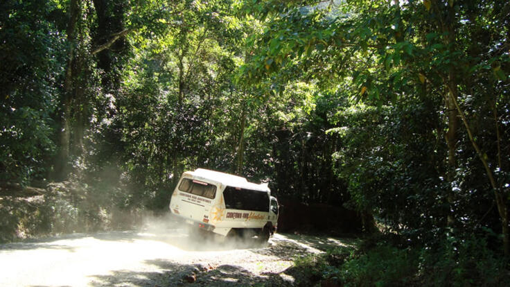 4WD action in Cape Tribulation on the way to Cooktown