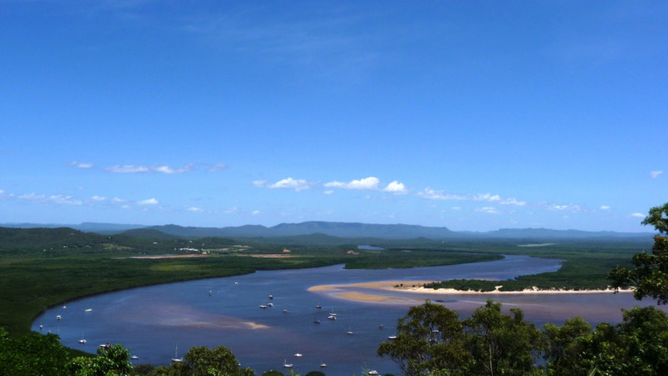 Scenic view over Cooktown