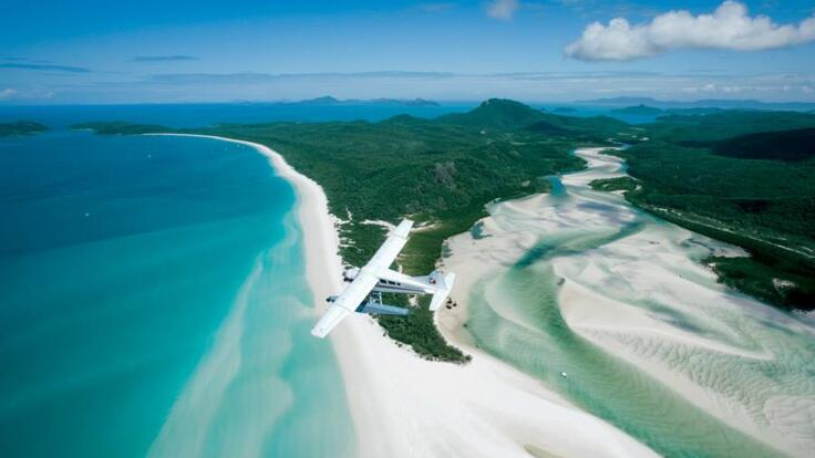 Great Barrier Reef Seaplane Flight from Airlie Beach to Whitehaven Beach & Hill Inlet