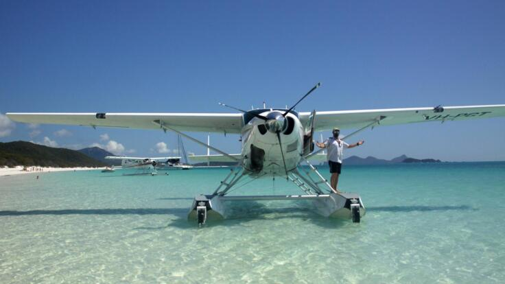 Great Barrier Reef Seaplane Flight from Airlie Beach to Whitehaven Beach