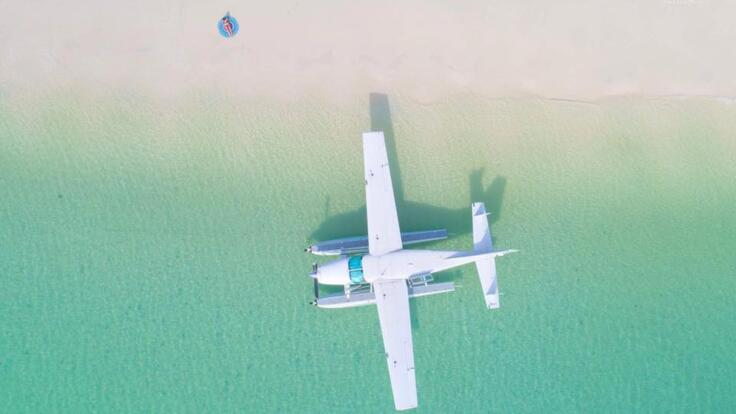 Seaplane Flights from Airlie Beach to Whitehaven Beach - Swim - Explore