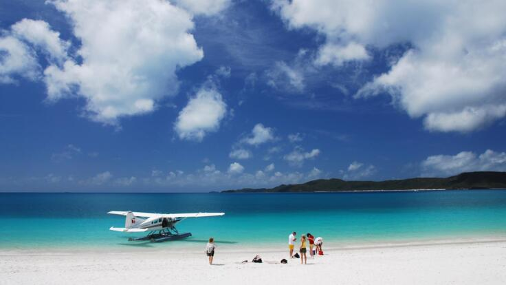 Whitehaven Beach Seaplane Flights - Land on the Ocean - Swim the Beach