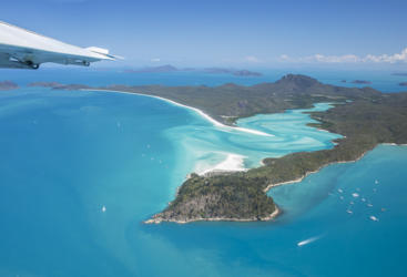 Great Barrier Reef Seaplane scenic flight over Whitsunday Islands