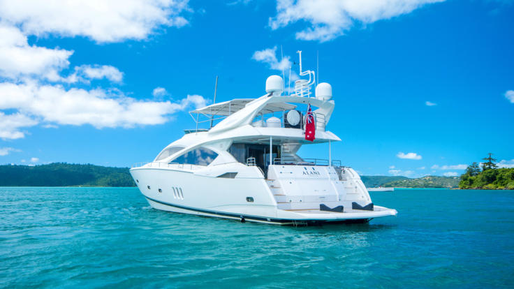Enjoy the Great Barrier Reef in privacy and style on this luxury charter boat.