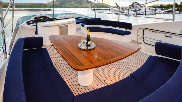 Ample deck space to relax and cruise the Great Barrier Reef