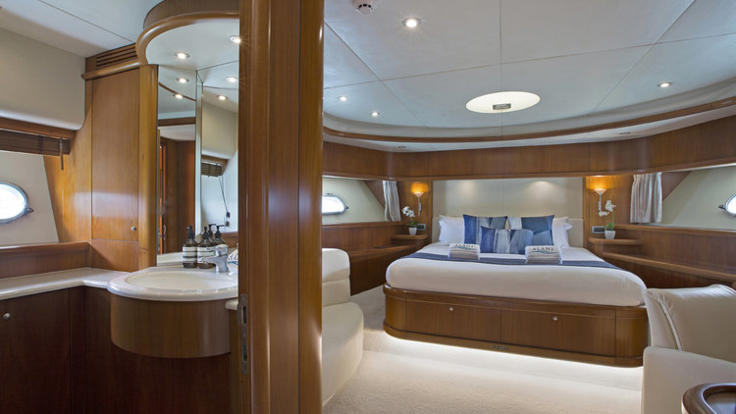 Maser stateroom and ensuite.