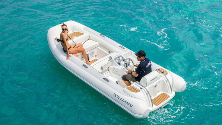Enjoy use of the luxury tender on board your private charter.