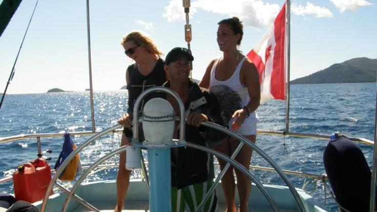 Barrier Reef Australia: Take a turn at sailing the racing yacht in the Whitsundays