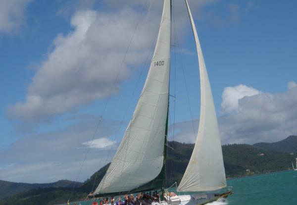 Vessel under sail! 3 day 2 night diving & sailing adventure from Airlie Beach