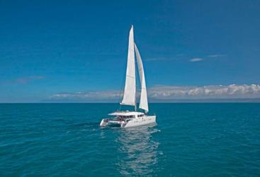 Private charter yacht sailing on the Great Barrier Reef in Port Douglas