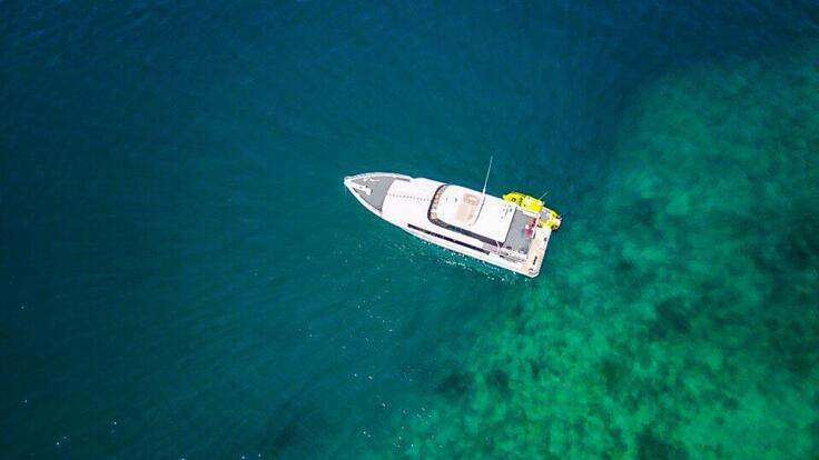 Superyachts Great Barrier Reef - Aerial View Charter Yacht