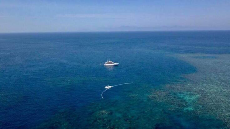 Yacht Charter Great Barrier Reef - Superyacht at Anchor