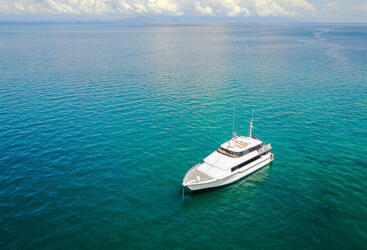 Superyacht Charters Great Barrier Reef - Aerial View Private Charter Boat in Australia