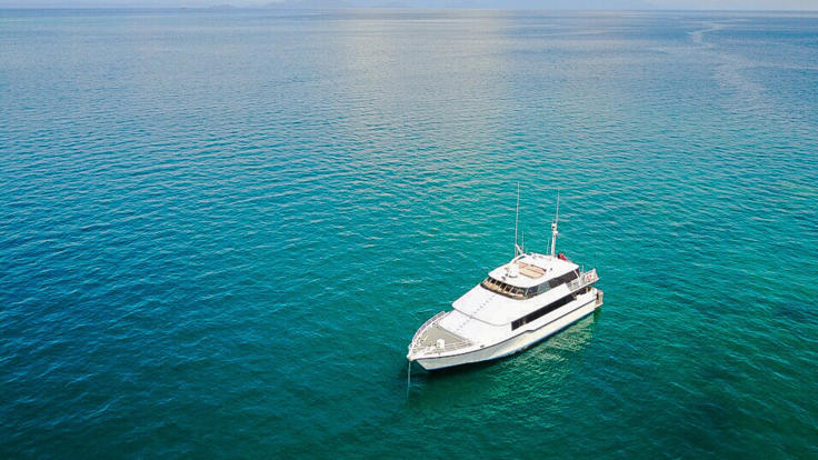 Private Charter Boat On Great Barrier Reef