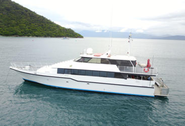 Private Charter Super Yacht On the Great Barrier Reef off Cairns, Australia