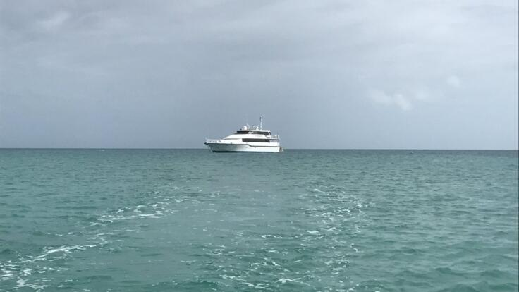 Great Barrier Reef Yacht Charters - Superyacht at Anchor