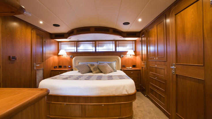 Double cabin on luxury private charter yacht Cairns - Whitsundays