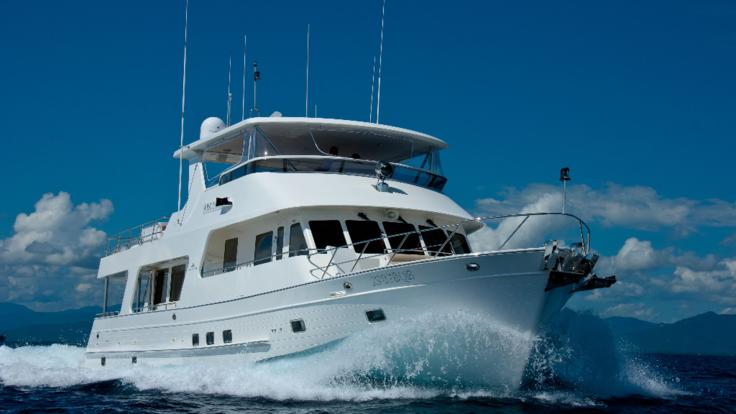 Luxury Charter Boat Cairns - Charter Boat cruising on the Great Barrier Reef