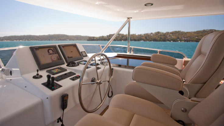 Skippers other control room upper deck - Cairns charter yacht