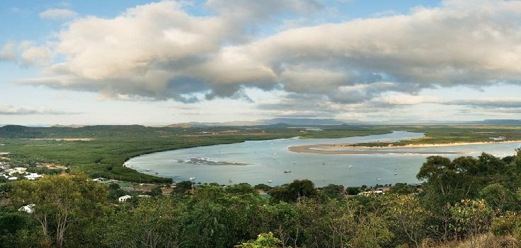 View of Endeavour River in Cooktown
