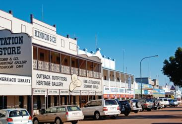 The Main Street in Longreach outback Queensland