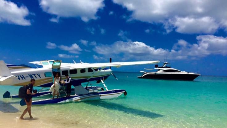 We can arrange a seaplane arrival to your private motor yacht in the Whitsundays