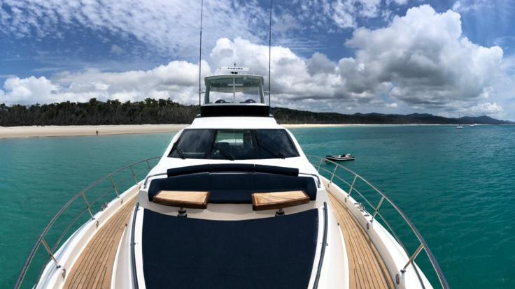 Relax onboard your private charter Whitsunday motor yacht