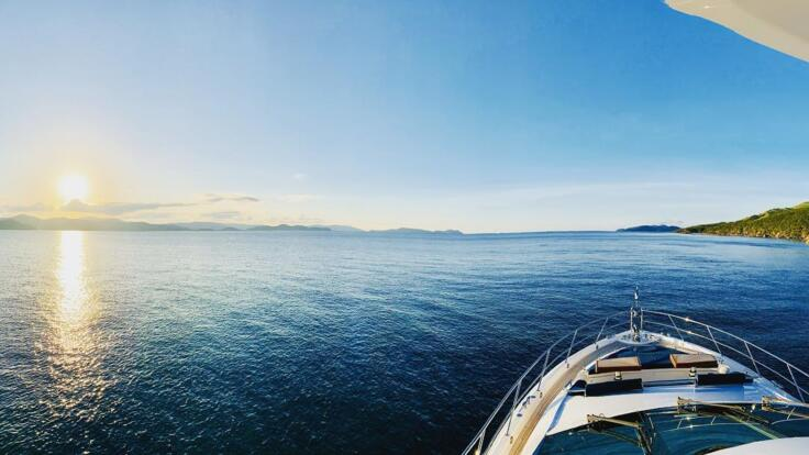 Whitsunday Yacht Charter - View from the bow
