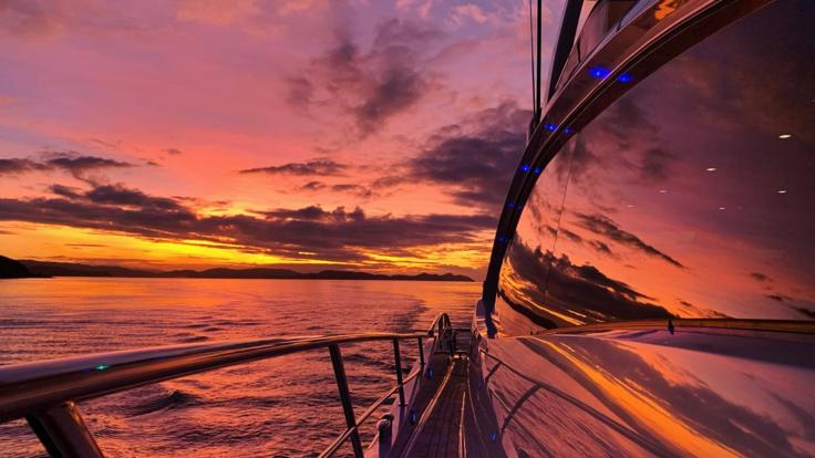 Whitsunday Yacht Charters - Great Barrier Reef - Enjoy the sunset from the back deck on your Whitsunday charter yacht