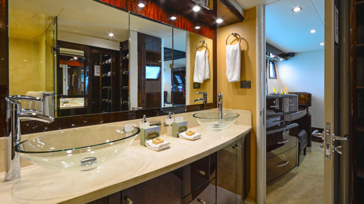 Each luxurious cabin is complete with ensuite