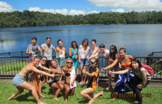 Lake Eacham volcano crater lake - Small groups