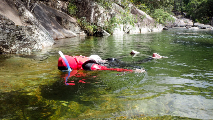 Clear creek snorkelling at Behana Gorge
