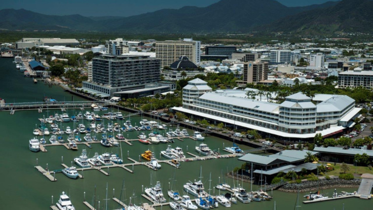 Aerial view of Cairns Marina