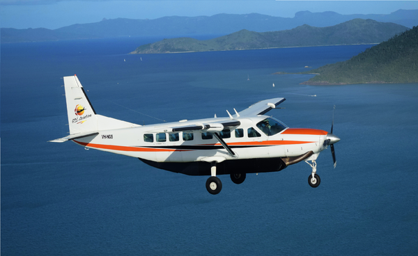 View the Great Barrier Reef from above on a scenic flight