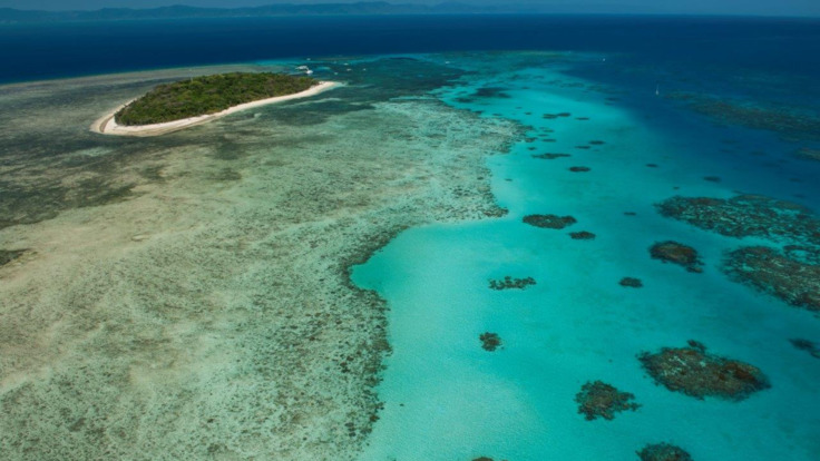 Green Island - Aerial view of Green Island and the Great Barrier Reef