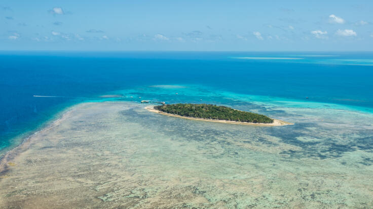 Green Island Tours - Aerial View Of Green Island - TTNQ