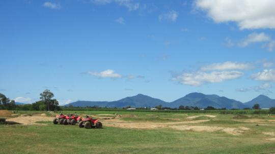 Cairns ATV Quad bike tours on sugarcane farm