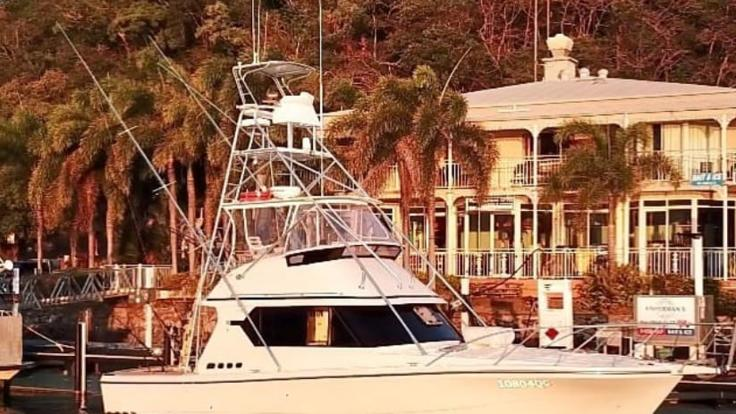Private Charter boat at Cooktown