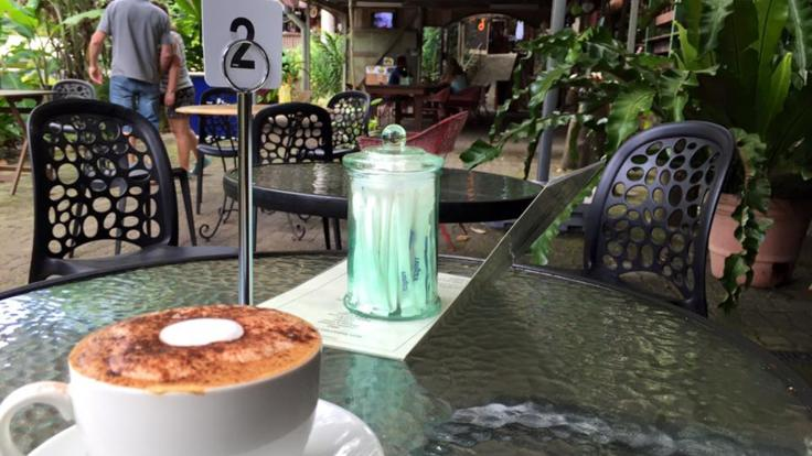 Relax and enjoy lunch in a cafe in Kuranda Village