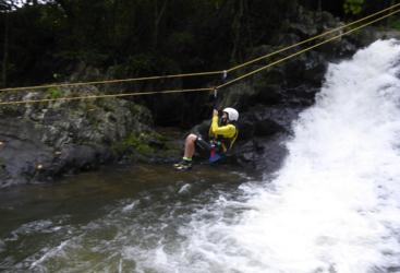 Zipline over the creek