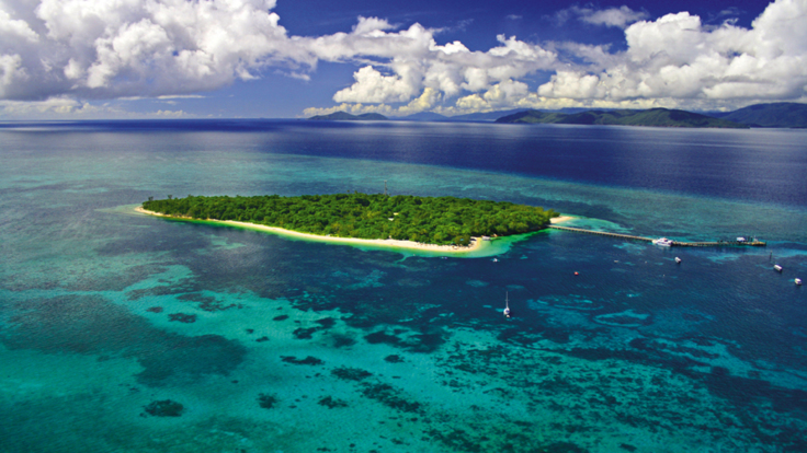 Aerial view of Green island - Half day tour