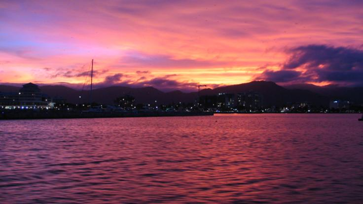 Stunning sunset, Cairns harbour cruise