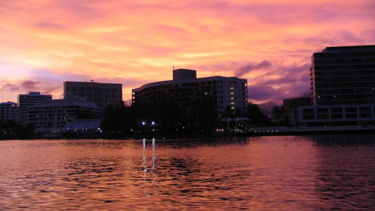 Sunset cruise, Cairns harbour