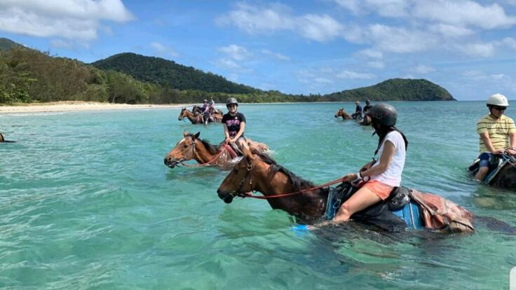 Horseback Riding on the Beach Cape Tribulation