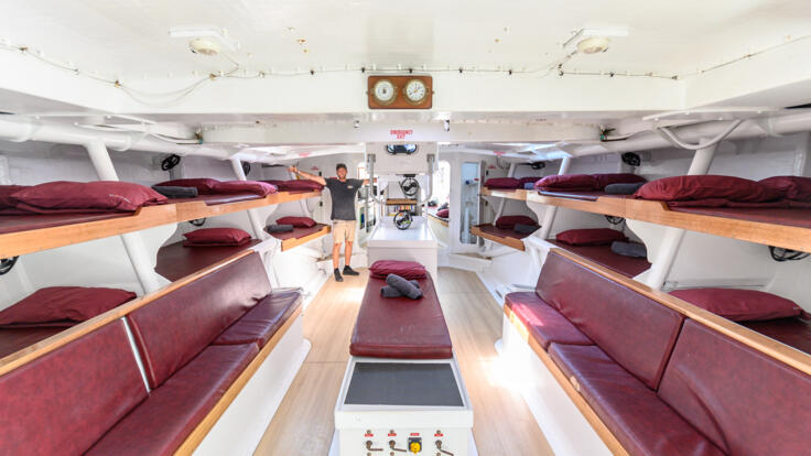 Cabin accommodation on our maxi yacht on the Great Barrier Reef in Australia